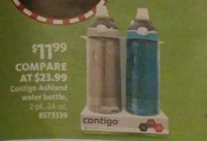 AAFES Black Friday: Contigo Ashland 2-pk 24oz Water Bottles for $11.99