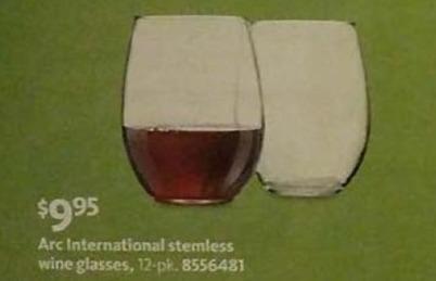 AAFES Black Friday: Arc International 12-pk Stemless Wine Glasses for $9.95
