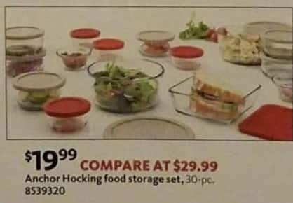 AAFES Black Friday: Anchor Hocking 30-pc Food Storage Set for $19.99