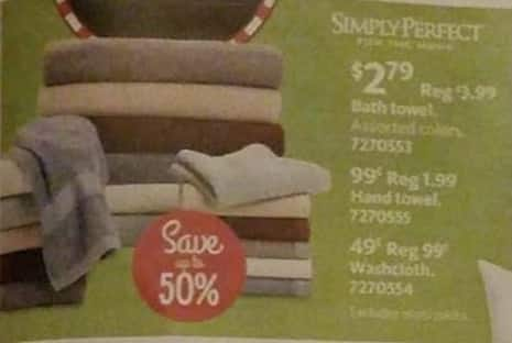 AAFES Black Friday: Simply Perfect Washcloth for $0.49
