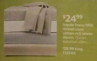 AAFES Black Friday: Royale Linens 1050 Thread Count Cotton-Rich Sateen Sheets (King) for $29.99