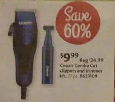 AAFES Black Friday: Conair 27-pc Combo Cut Clippers and Trimmer Kit for $9.99
