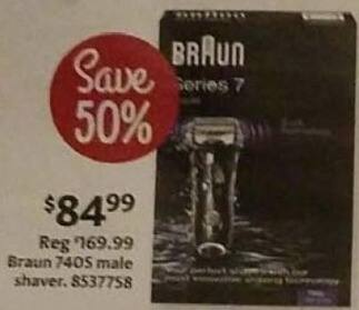 AAFES Black Friday: Braun 740s Male Shaver for $84.99