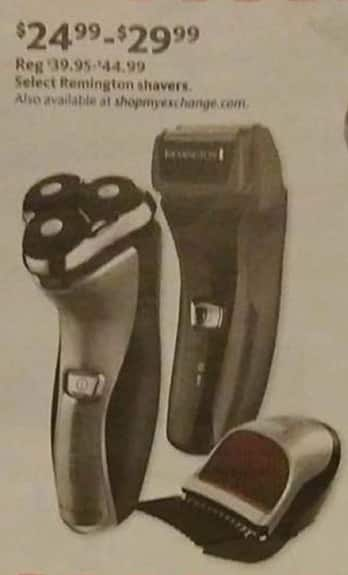 AAFES Black Friday: Select Remington Shavers for $24.99 - $29.99