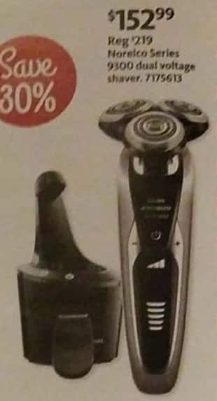 AAFES Black Friday: Philips Norelco Series 9300 Dual Voltage Shaver for $152.99