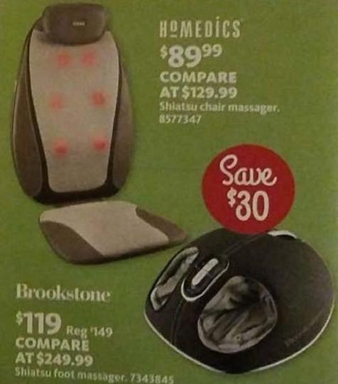 AAFES Black Friday: Brookstone Shiatsu Foot Massager for $119.00