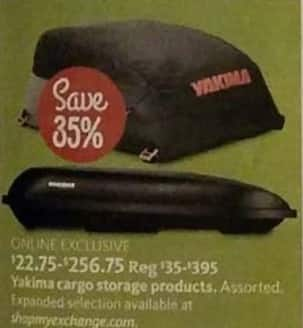 AAFES Black Friday: Yakima Cargo Storage Products - 35% Off