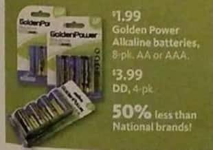 AAFES Black Friday: Golden Power 8-pk AA or AAA Alkaline Batteries for $1.99