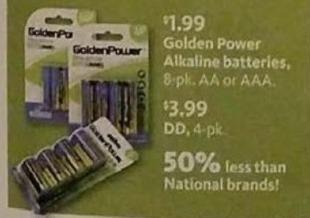 AAFES Black Friday: Golden Power 4-pk D Alkaline Batteries for $3.99