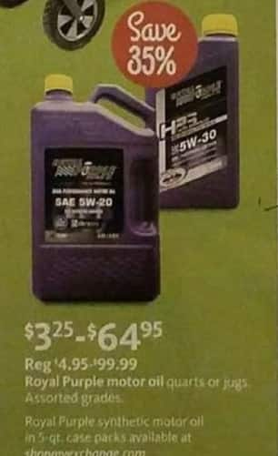 AAFES Black Friday: Royal Purple Motor OIl - 35% Off