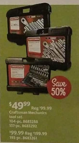 AAFES Black Friday: Craftsman 104-pc or 137-pc Mechanics Tool Set for $49.99