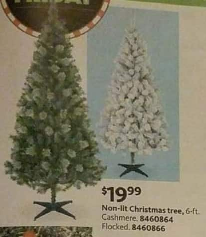 AAFES Black Friday: 6-ft Cashmere or Flocked Non-Lit Christmas Tree for $19.99
