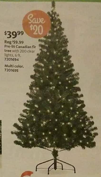 aafes black friday 6 ft pre lit canadian fir christmas tree for 3999 see deal - Black Friday Deals On Christmas Trees