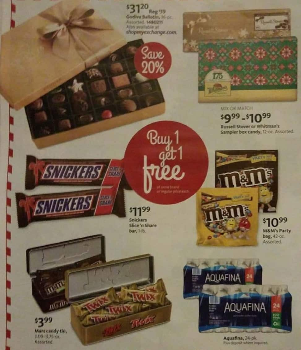 AAFES Black Friday: Russell Stover or Whitman's Sampler Box Candy for $9.99 - $10.99