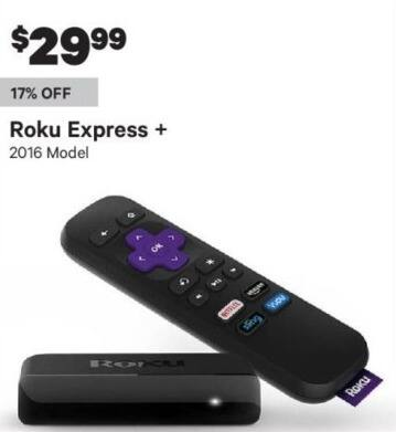Groupon Black Friday: Roku Express+ (2016) for $29.99