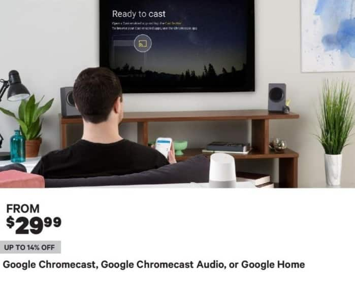 Groupon Black Friday: Google Chromecast, Google Chromecast Audio or Google Home - From $29.99