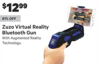 Groupon Black Friday: Zuzo Virtual Reality Bluetooth Gun for $12.99