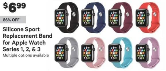 Groupon Black Friday: Apple Watch Series 1, 2, or 3 Silicone Sport Replacement Band for $6.99