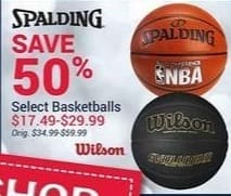 Olympia Sports Black Friday: Select Spalding and Wilson Basketballs for $17.49 - $29.99