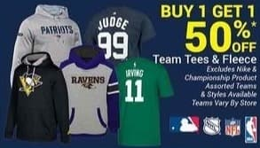 Olympia Sports Black Friday: Team Tees and Fleece - B1G1 50% Off
