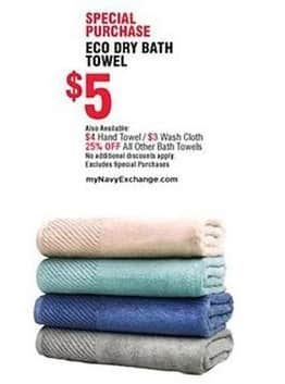 Navy Exchange Black Friday: Eco Dry Hand Towel for $4.00