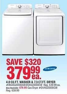 Navy Exchange Black Friday: Samsung 7.3 Cu. Ft. Gas Dryer for $479.99