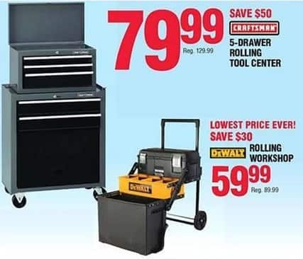 Navy Exchange Black Friday: Craftsman 5-Drawer Rolling Tool Center for $79.99