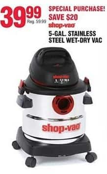 Navy Exchange Black Friday: Shop-Vac 5-Gal Stainless Steel Wet/Dry Vac for $39.99