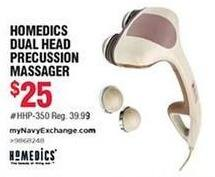 Navy Exchange Black Friday: HoMedics Dual Head Percussion Massager for $25.00