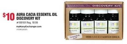 Navy Exchange Black Friday: Aura Cacia Essential Oil Discovery Kit for $10.00