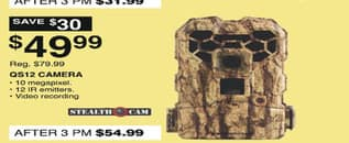 Dunhams Sports Black Friday: Stealth Cam QS12 Camera for $49.99