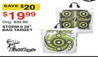 "Dunhams Sports Black Friday: Field Logic Storm II 20"" Bag Target for $19.99"