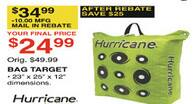 Dunhams Sports Black Friday: Hurricane Bag Target for $24.99 after $10.00 rebate