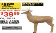 Dunhams Sports Black Friday: Big Shooter Buck Target for $39.99 after $20.00 rebate