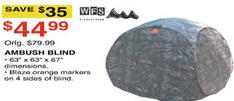 Dunhams Sports Black Friday: WFS Ambush Blind for $44.99
