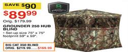 Dunhams Sports Black Friday: Barronett Grounder 250 Hub Blind for $89.99