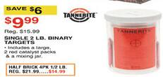 Dunhams Sports Black Friday: Tannerite Single 2-lb Binary Targets for $9.99