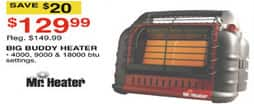 Dunhams Sports Black Friday: Mr. Heater Big Buddy Heater for $129.99