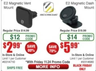 Frys Black Friday: Scosche E2 Magnetic Dash Mount for $5.99