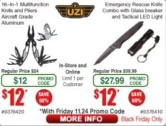 Frys Black Friday: UZI 16-in-1 Multifunction Knife and Pliers for $12.00