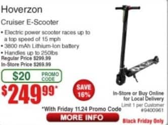 Frys Black Friday: Hoverzon Cruiser E-Scooter for $249.99