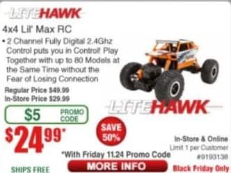 Frys Black Friday: LiteHawk 4x4 Lil' Max RC for $24.99