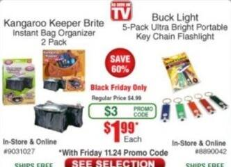 Frys Black Friday: Kangaroo Keeper Brite Instant Bag Organizer for $1.99