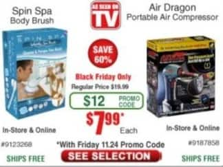 Frys Black Friday: Spin Spa Body Brush for $7.99