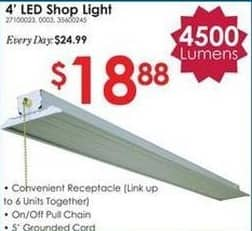 Rural King Black Friday: 4-ft LED Shop Light for $18.88