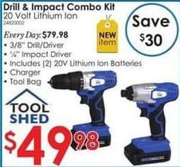 Rural King Black Friday: Tool Shed 20-Volt Lithium-Ion Drill and Impact Combo Kit for $49.98