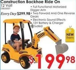 Rural King Black Friday: Construction Backhoe 12-Volt Ride On for $199.98