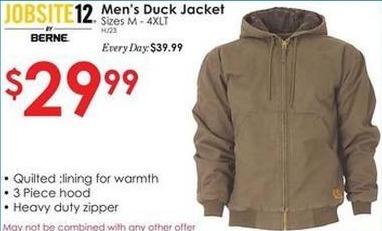 Rural King Black Friday: Jobsite 12 Men's Duck Jacket for $29.99