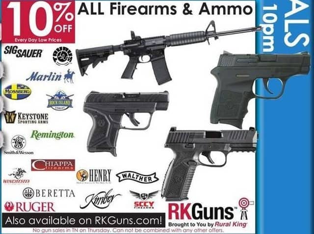 Rural King Black Friday: Entire Stock Firearms and Ammo - 10% Off