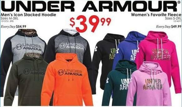Rural King Black Friday: Under Armour Men's Icon Stacked Hoodie for $39.99
